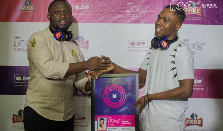 "Rapper Kwame Dame wins Muse Bangerz ""HipHop Song of the Quarter"" plaque"