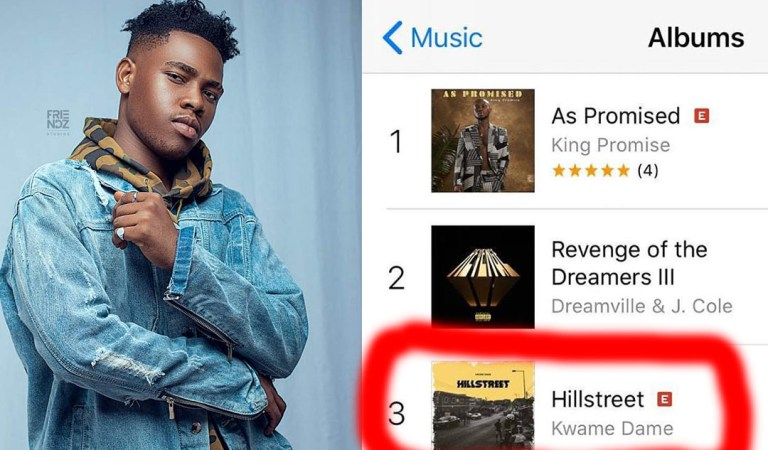 Kwame Dame's #HillStreetEp on iTunes chart as number 3 in less than 12 hours