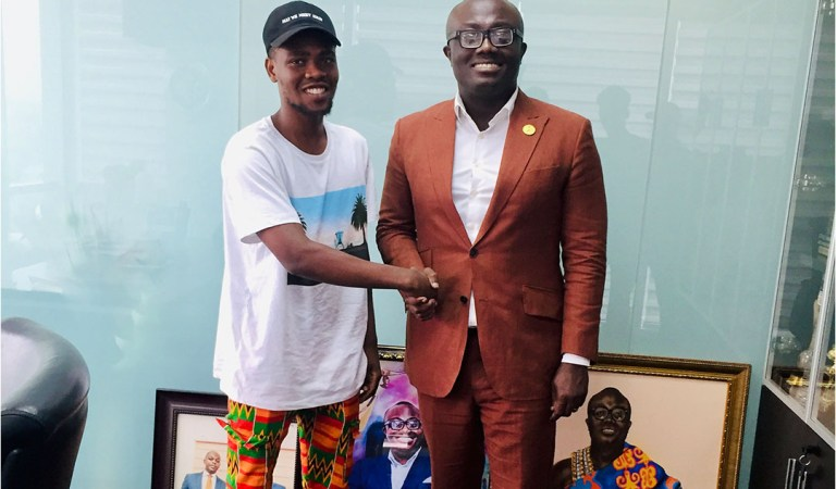 Photos: Rapper Kwame Dame spends time with Entertainment mogul Bola Ray