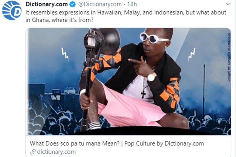 Patapaa's 'Scopatumana' finds its way into dictionary com