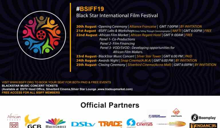 This year's edition of Black Star International Film Festival starts from 20th to 26th August