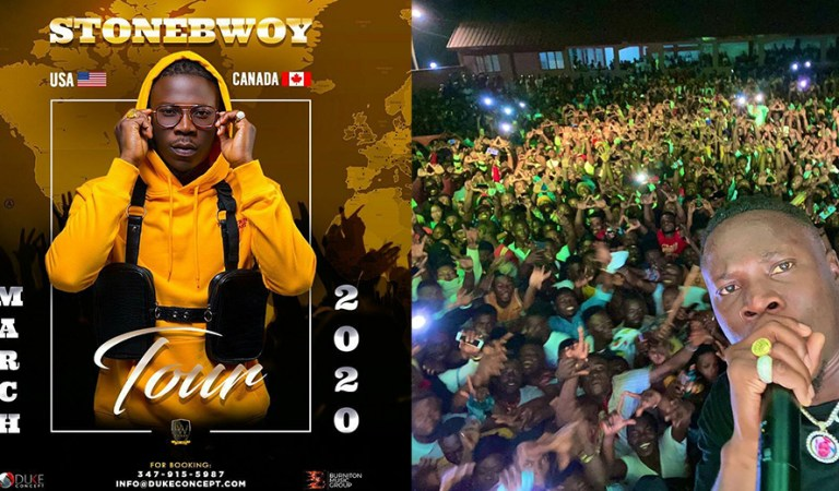 Stonebwoy said to tour the world starting March
