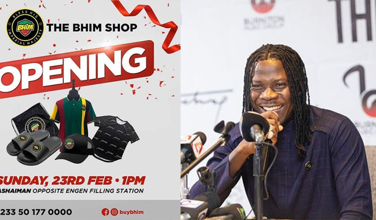 "Stonebwoy opens ""BHIM Merchandise"" shop at Ashaiman"