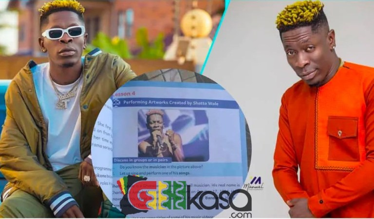 Dancehall King Shatta Wale Featured In Creative Arts Primary 4 Textbook