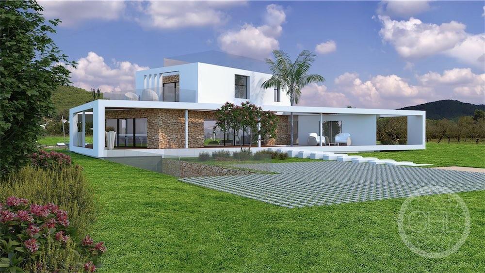 Modernes Villenprojekt auf dem Land