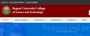 Regent University College of Science and Technology Cut Off Points For Admission
