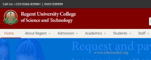 Regent University College fees