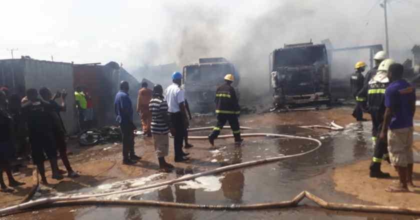 Sekondi fire update: Two year old boy burnt to death