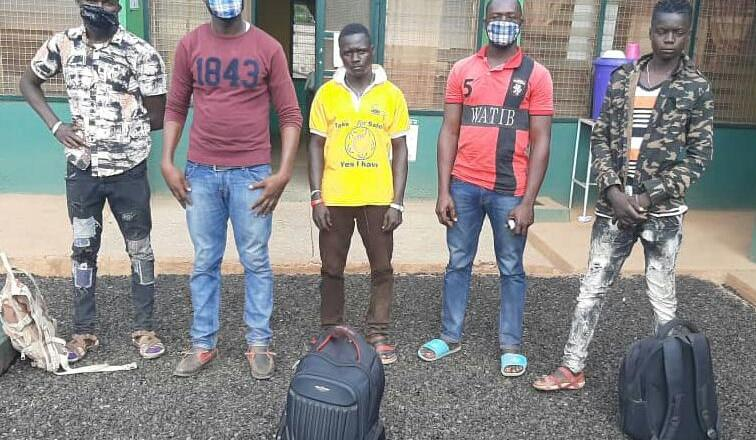 Five nabbed for breaking border closure directive