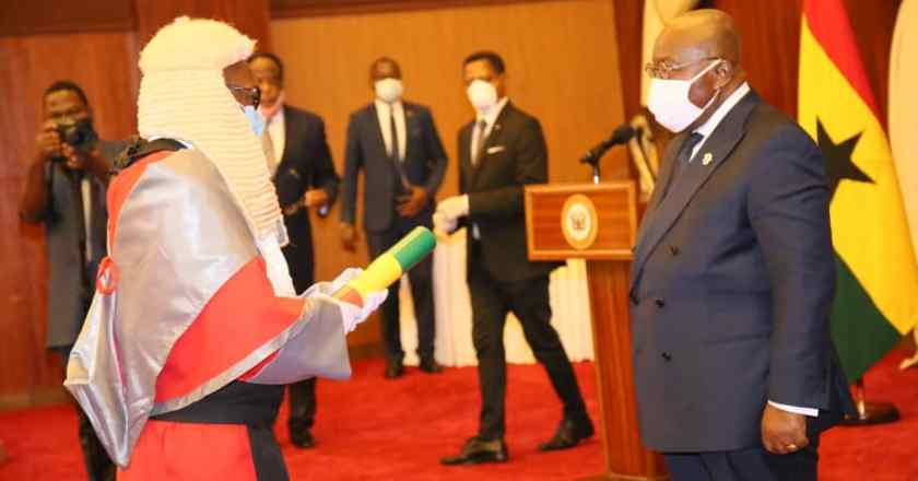 Justice Honyenuga officially takes office as Justice of the Supreme Court