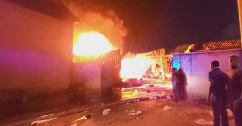 Fire guts Sakumono School Complex