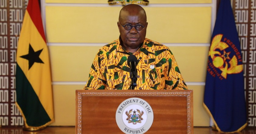 Arsenal fans hijack Ghanaian president's press conference