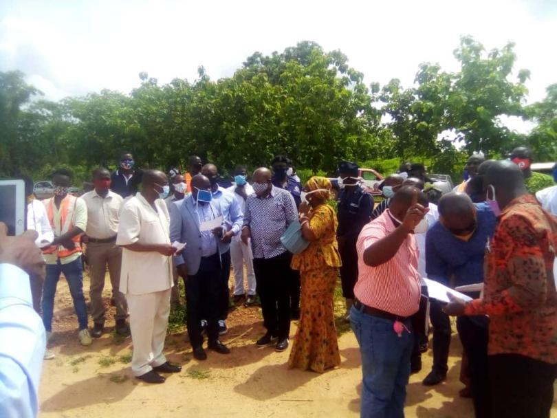 Oti Regional Minister inspects ongoing projects in region