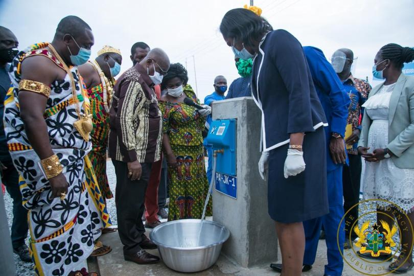 President Akufo-Addo commissions 146 water systems in central region
