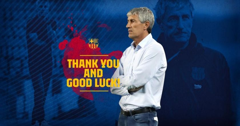 Quique Setién no longer first team coach