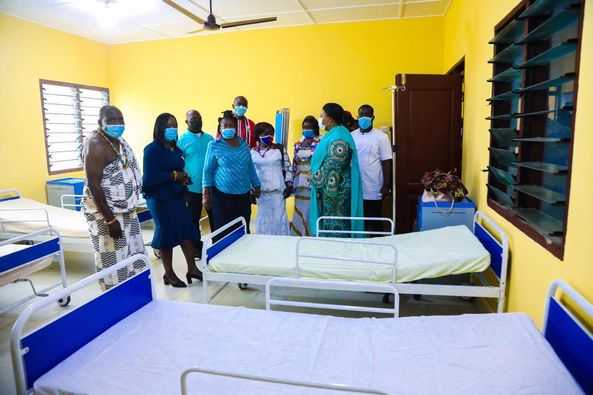 First Lady Rebecca Akufo-Addo commission health center at Kwame Anum