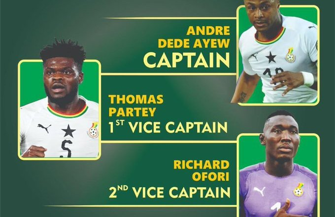 Andre Ayew maintained as Ghana captain, Partey, Ofori handed new roles