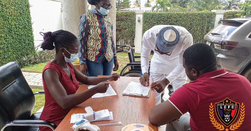 Players and Officials of Legon Cities undergo COVID-19 test ahead of the season