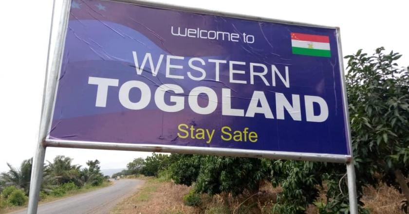Western Togoland billboard pulled down