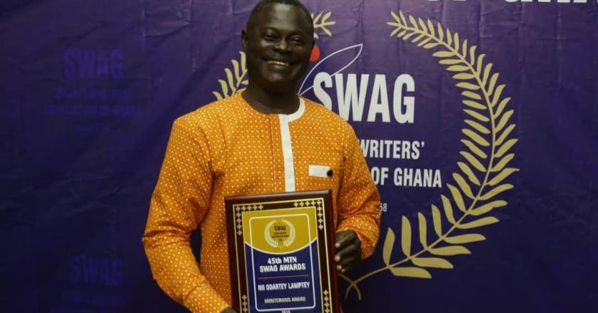 Ex Black Stars player Odartey Lamptey honored by SWAG