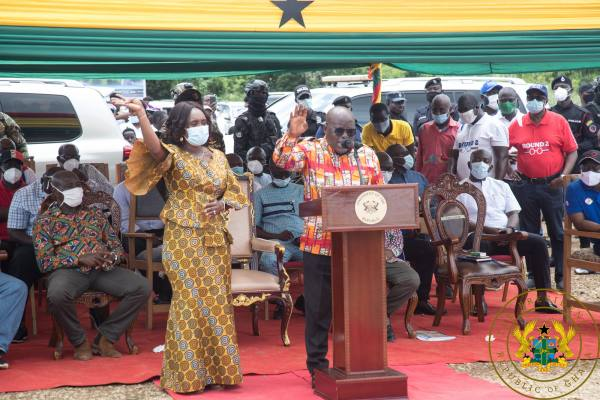 President Akufo-Addo Cuts Sod For Trauma Hospital In Anyinam; District Hospital In Kwabeng