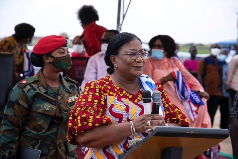 First Lady urges Agbogbloshie traders to keep the COVID-19 safety protocols