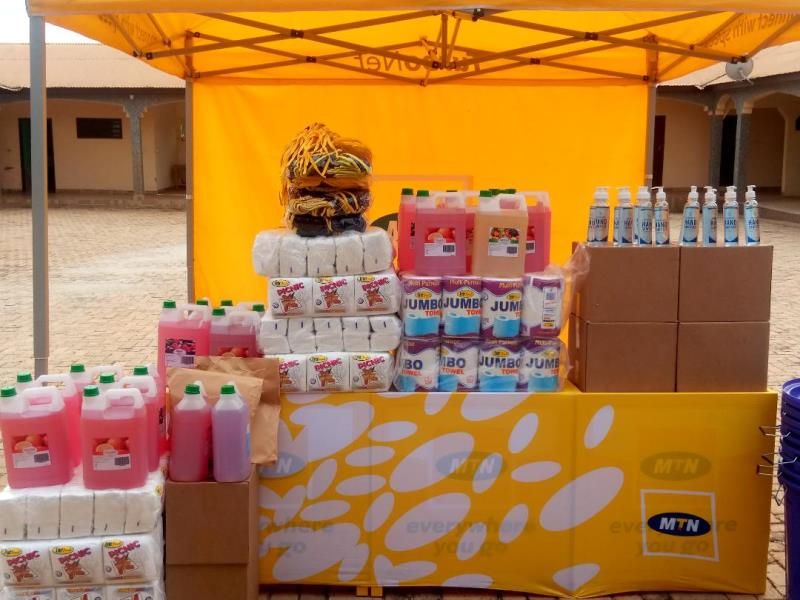MTN presents PPE to Sunyani Traditional Council