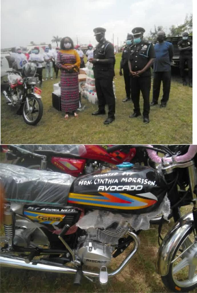 Agona West MP donates motorbikes, computers and printers to Swedru Divisional Police Command