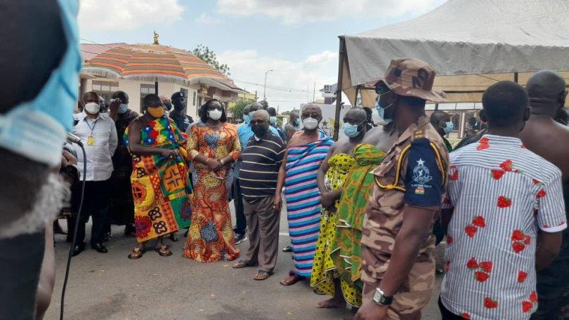 2020 Election: Otumfuo Osei Tutu II casts his vote at Manhyia
