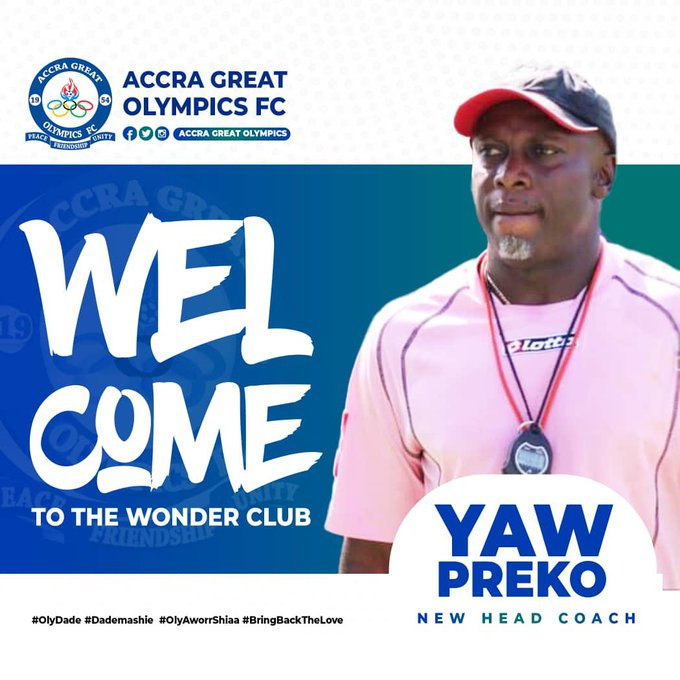 Yaw Preko announced as Great Olympics coach