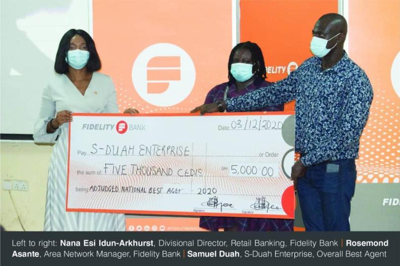 Fidelity Bank awards 2020 best performing agents