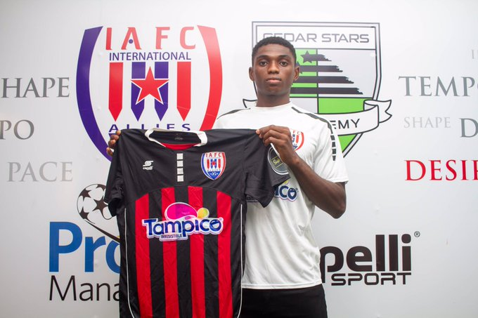 Ghana's Inter Allies have announced the signing of Nigerian striker Sunday Henry Kalu.