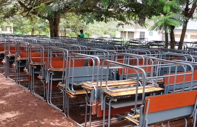 Bia West District Assembly hands over 180 desks to Education Directorate