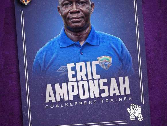 Eric Amponsah joins Hearts of Oak technical team