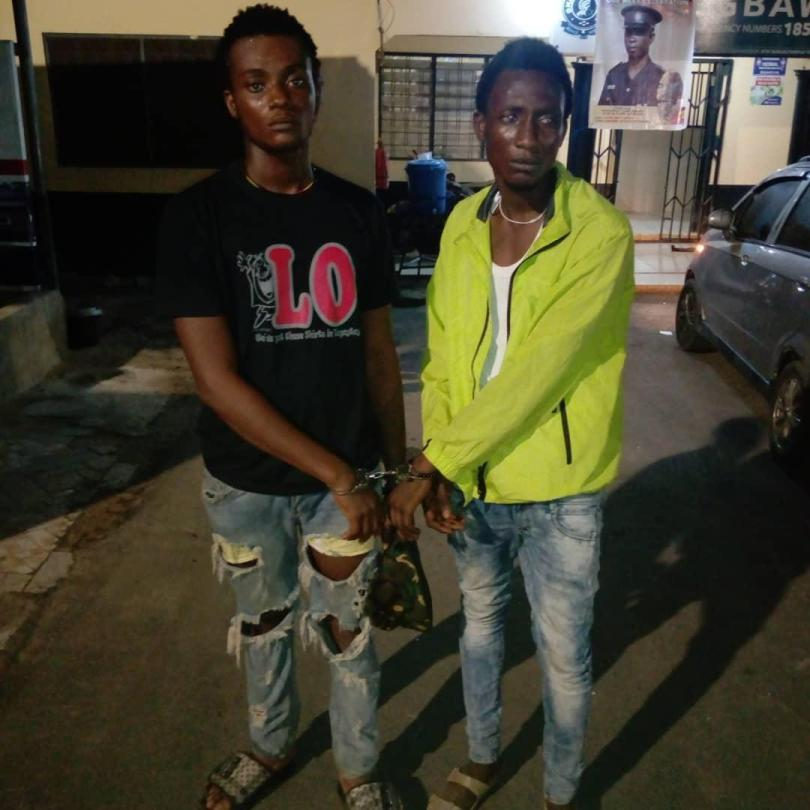 Two suspected robbers arrested at Gbawe