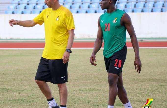 Kudus, Kwame Opoku train with colleagues as Black Stars intensify training
