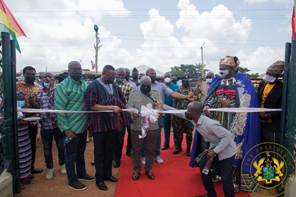 President Akufo-Addo Commissions Salaga Water Supply Project; Salaga Astroturf Pitch