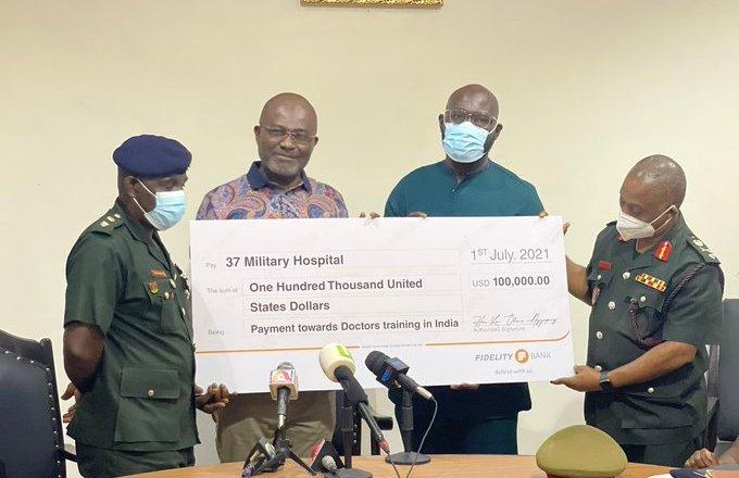 Kennedy Agyapong blesses 37 Military Hospital again