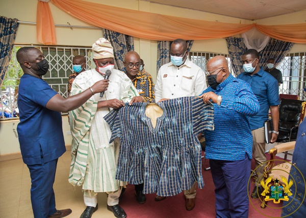 """""""Your Interventions In Nandom Unparalleled"""" – Nandom Chiefs To President Akufo-Addo"""