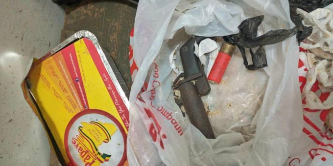 Lady conceals firearm in food; attempts to smuggle it into police cell