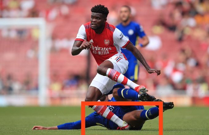 Thomas Partey suffer ankle damage in friendly clash with Chelsea