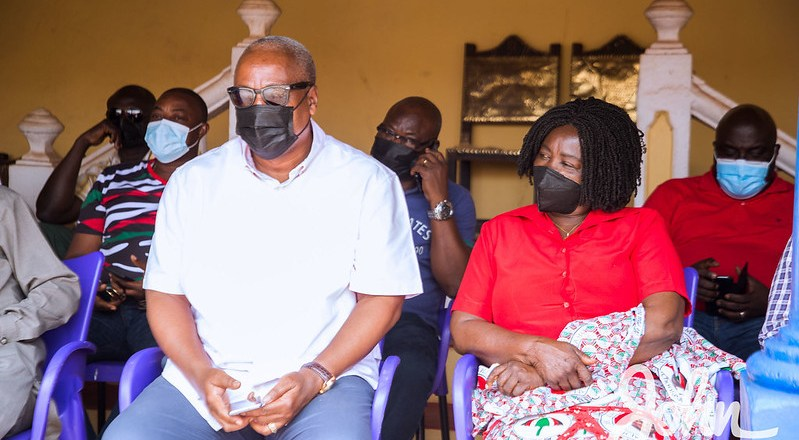 John Mahama consoles family of the late Western North Deputy Youth Organizer