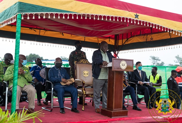 President Akufo-Addo Cuts Sod For Phase II Of $60 Million Uhas Expansion Project In Ho