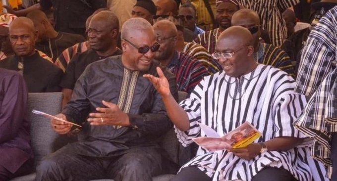 Mahama consoles Bawumia on phone