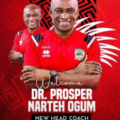 Coach Prosper Ogum promises to make Kotoko great in the World