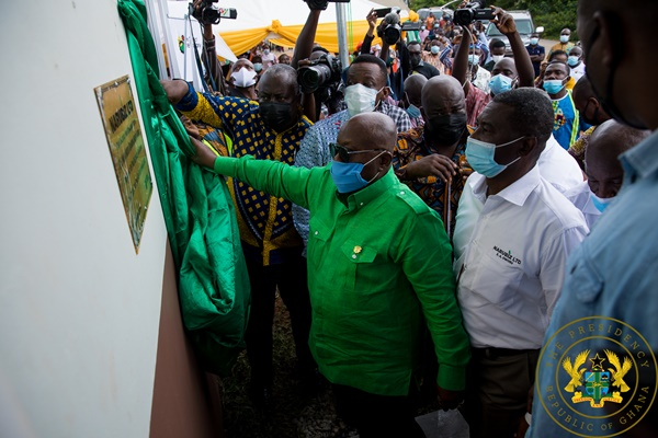 1D1F: President Akufo-Addo Commissions $2.1 Million Rubber Processing Plant