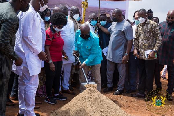 African Games 2023: President Akufo-Addo Cuts Sod For $145 Million Borteyman Sports Complex
