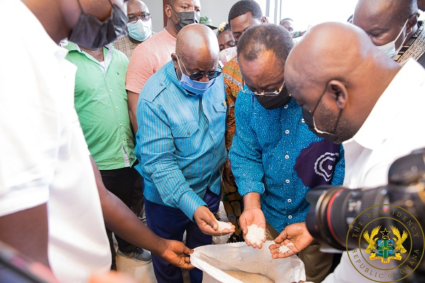 1D1F: President Akufo-Addo Commissions Gh¢6.7 Million Sefwi Akontombra Rice Factory