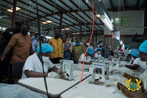 1D1F: President Akufo-Addo Commissions Garment Manufacturing Factory At Koforidua