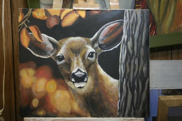 Easy Canvas Painting Deer